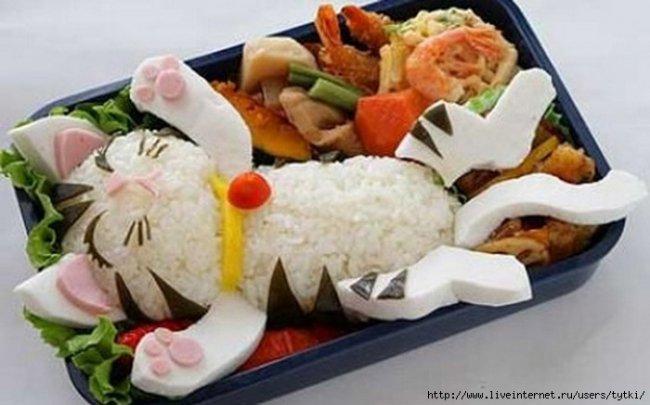 Бенто. Японская кухня. Обалдеть.
