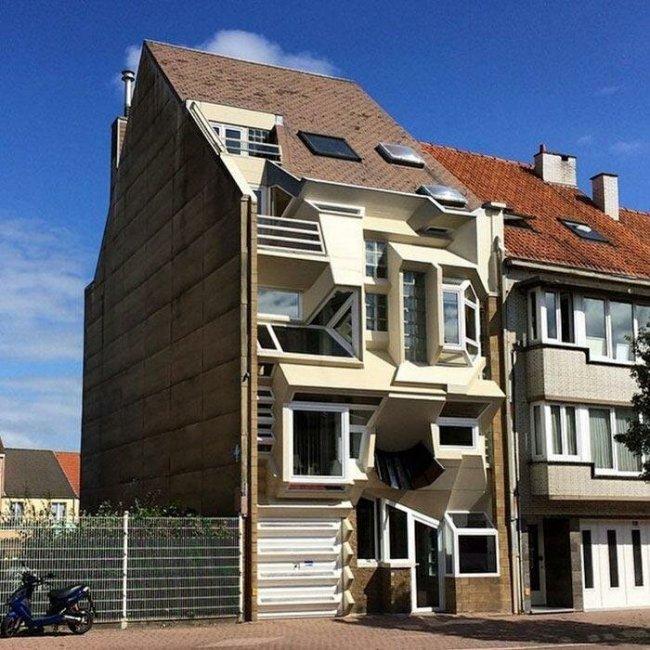 Причудливые бельгийские дома, дизайн которых настолько необычен, что трудно представить как в них жить.