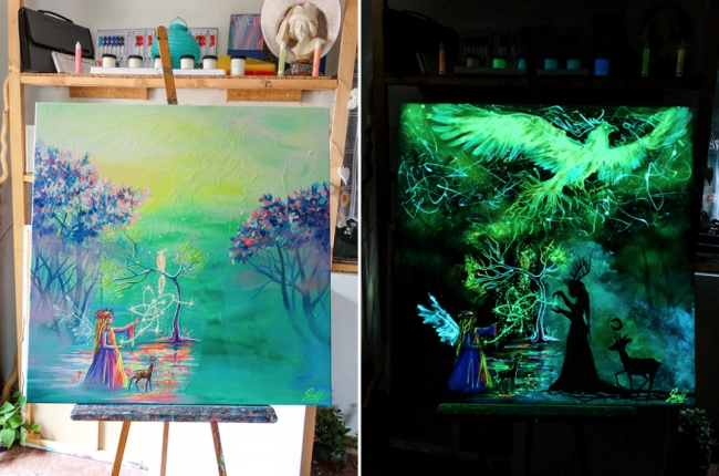 Эти картины лучше рассматривать в темноте, проверьте сами: 10 волшебных работ
