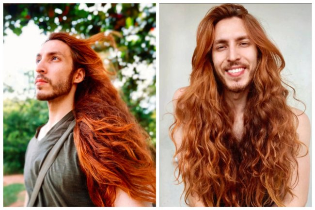 Волосам этого парня позавидует любая девушка, хоть и секрет их длины очень прост