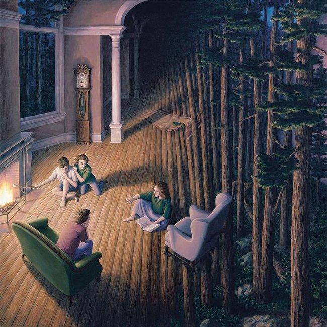 Иллюзии, пробуждающие любопытство, в картинах канадского художника